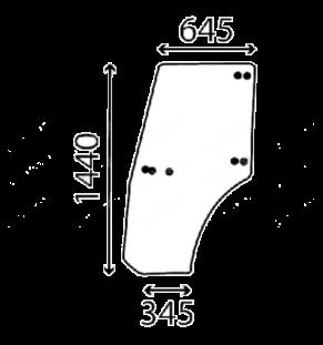 Geam lateral stanga ARGO Landini McCormick Massey Ferguson 3659538M1
